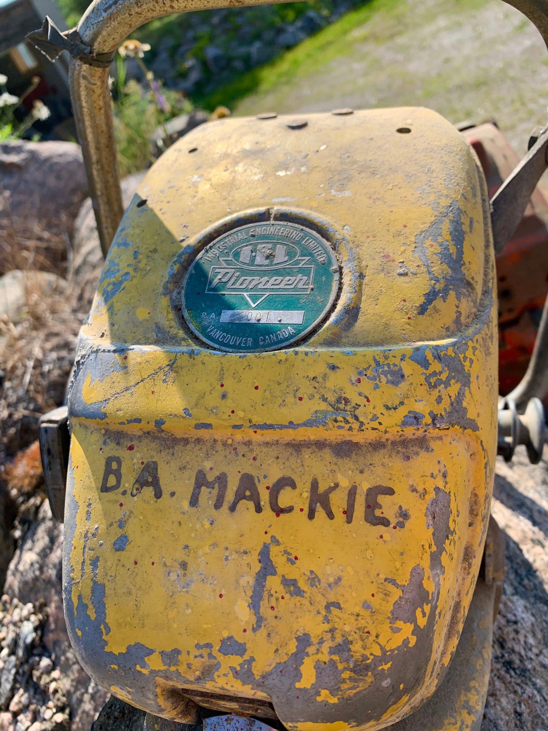 B. Allan Mackie, pioneer, log builder